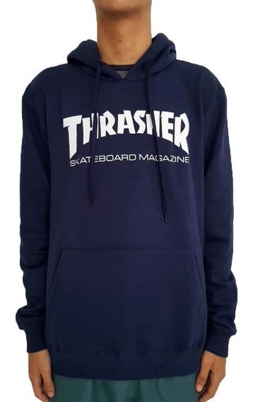Moletom Thrasher Skate Mag Azul Marinho