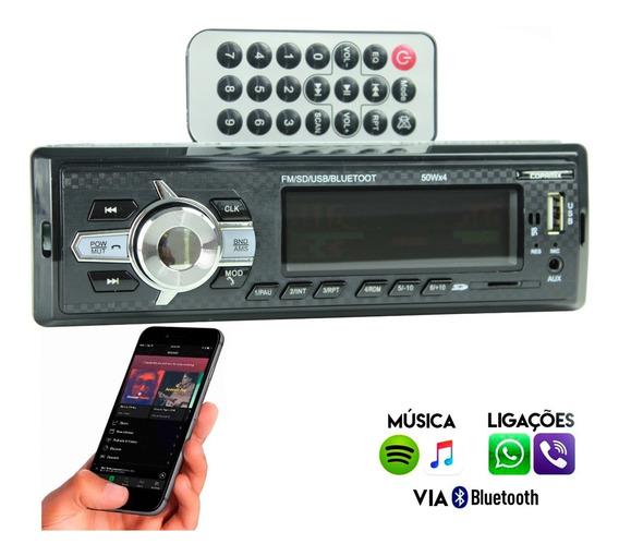 Som Automotivo Completo Rádio Para Carro Com Bluetooth Usb
