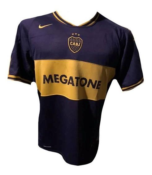 Camiseta De Boca Juniors 2007 Tela De Juego #10 Roman Tela