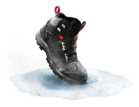 Bota Masculina De Trilha Na Neve Impermeável Sh500