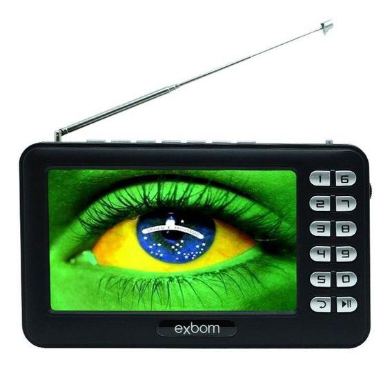 Mini Tv Digital Tela 4.3 Portátil Hd Usb Sd Fm Isdbt Monitor
