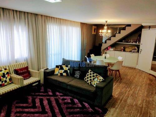 Imagem 1 de 24 de Cobertura Com 3 Dormitórios À Venda, 210 M² Por R$ 1.290.000,00 - Lauzane Paulista - São Paulo/sp - Co0048