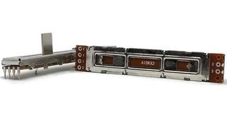 Potenciômetro Deslizante Stereo 10ka A10k A103 Percurso 60mm