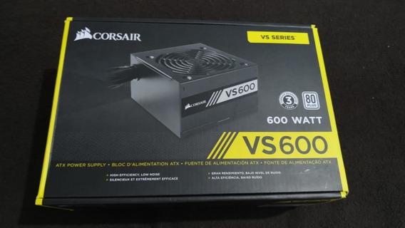 Vs600 Psu Fonte Corsair 600w 80 Plus