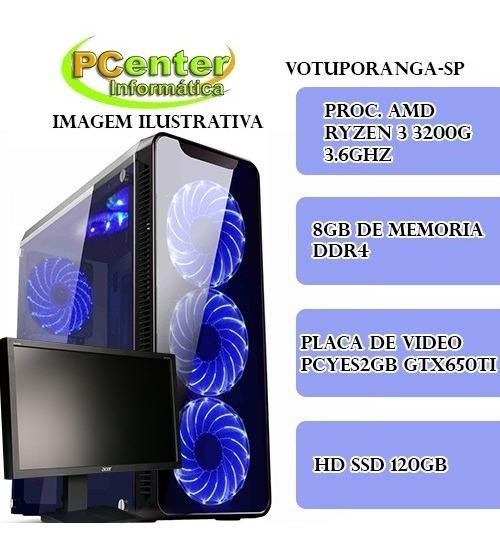 Pc Gamer Ryzen 3 , Ssd 120 , Placa De Video 650 Ti.