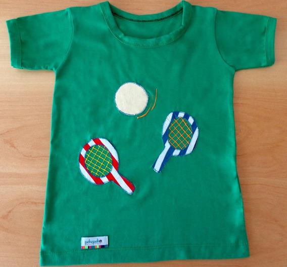 Remeras Con Diseños Exclusivos Para Nenes - Modelo Raquetas
