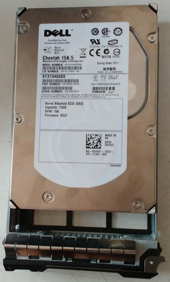 Hd Dell Cheetah 15k.5 St373455ss 9z3066-054 73gb-testado
