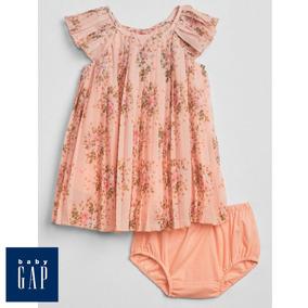 Vestido Floral Rosa Da Grife Gap - Bebês De 18-24 Meses