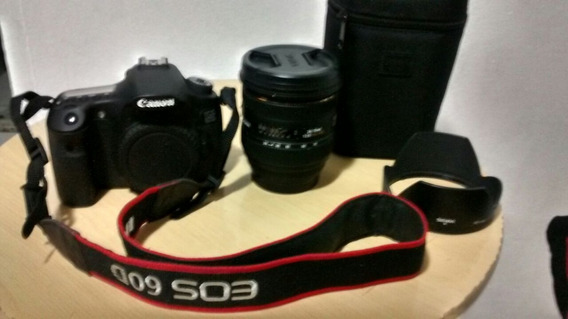 Camera Canon 60d E Lente Sigma 24-70 2.8
