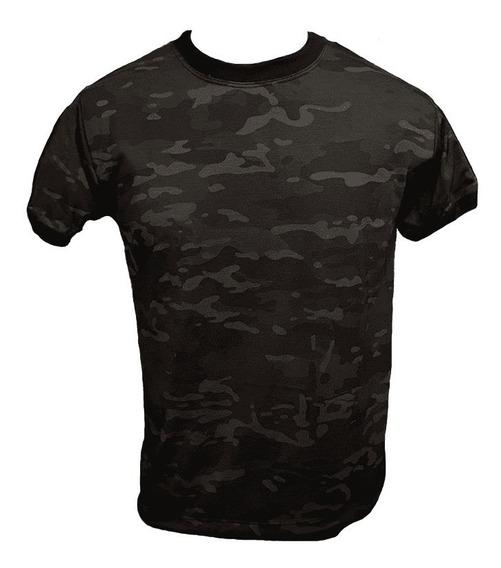 Camiseta Camuflada Multicam Black - Uai Fardas
