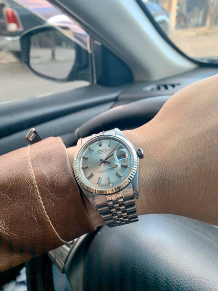 Reloj Rolex Datejust Ref 1603 Oro Blanco Vintage Caja