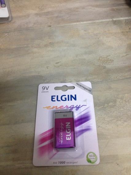 Bateria 9v Recarregável Elgin