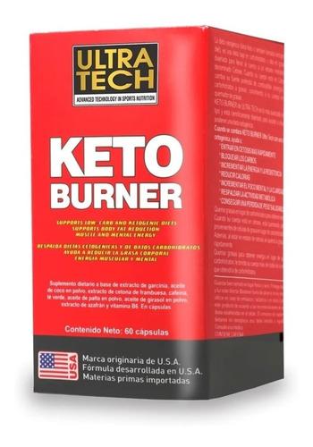 Imagen 1 de 3 de Keto Burner Ultra Tech X 60 Cápsulas Quemador De Grasas
