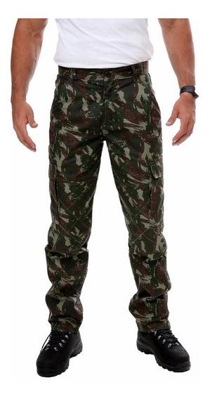 Calça Tática Ripstop 6 Bolsos - Camuflado Exército