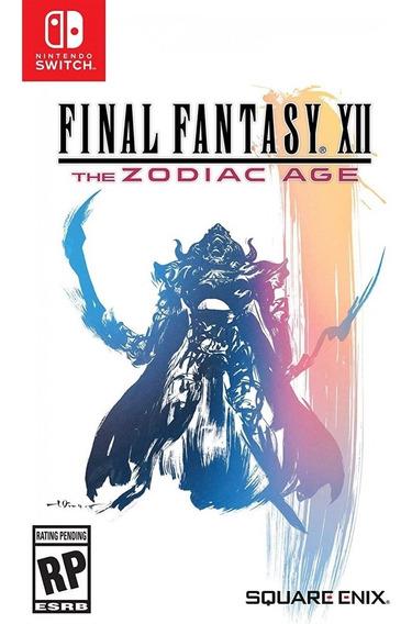 Final Fantasy Xii The Zodiac Age Switch Mídia Física Novo