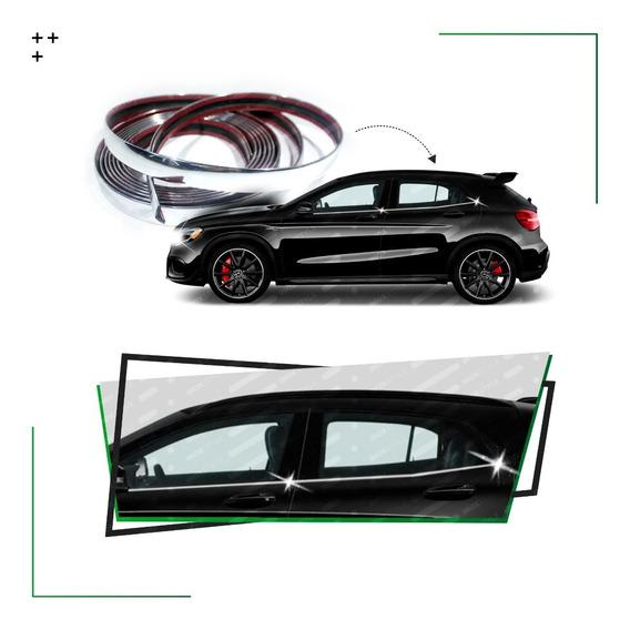Cubre Colizas Cromadas Chevrolet Captiva Tracker S10 Trailblazer Aveo Agile Astra Spin Meriva Accesorio Ventana De 5mts