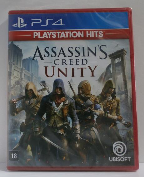 Assassins Creed Unity Ps4 Novo Lacrado Midia Fisica Dublado