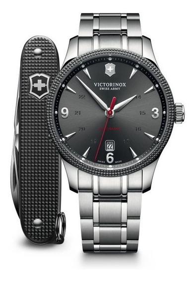 Relógio Victorinox 241714.1 Automatico Alliance Com Canivete
