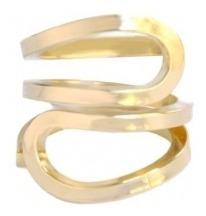 Anel Siames - Banhado A Ouro - Aro 20 A 22