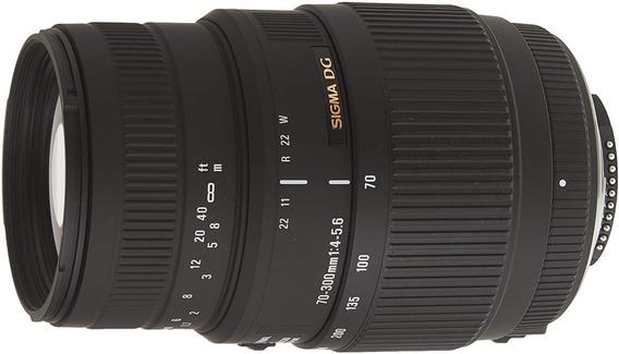 Lente Objetiva Sigma Dg Macro 70-300mm F4-5.6 Para Nikon