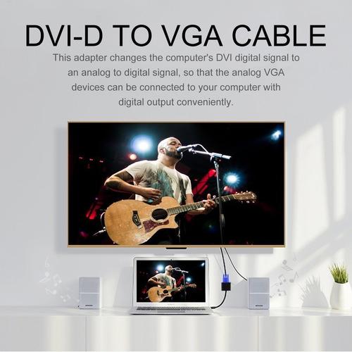 Dvi-d A Vga Adaptador Convertidor Activa Cable Del Monitor D