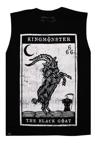 Playera Sin Mangas Logo Black Goat/kingmonster