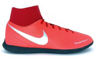 Chuteira Nike Phantom Vsn Club Df Futsal Ic Botinha Vermelha