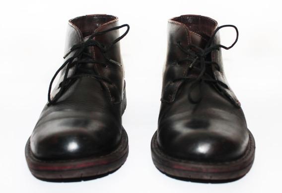 Zapatos Botines Hushpuppies Cuero Usados T: 38 25cm Plantila