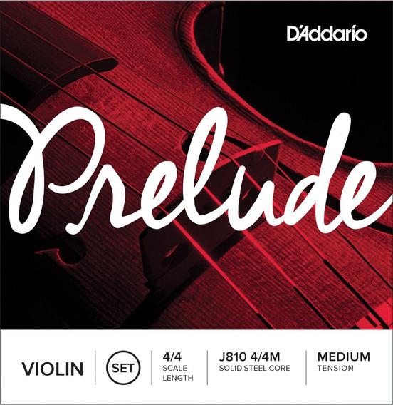 Jogo Cordas Violino 4/4 Encordoamento Prelude Daddario J810