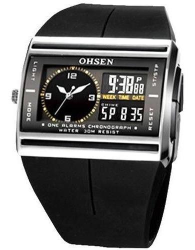 Relógio Ohsen Ad0518 Original Estojo Nota Fiscal Promoção