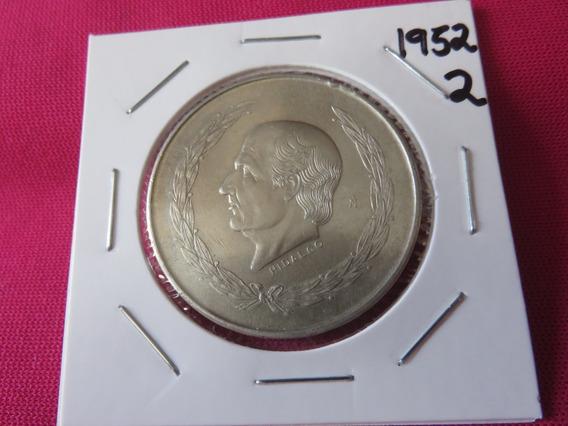 Cinco 5 Pesos Hidalgo 1952 Plata Ley .720