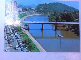 Cartão Postal Av Beira Rio Ao Fundo A Prefeitura Blumenau Sc