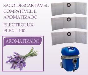 6 Sacos P/ Aspirador De Pó Electrolux Flex 1400 Aromatizado