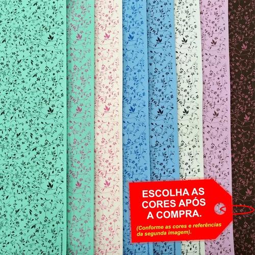 Folha De Eva Estampado Floral Arabesco 40x60cm - 5 Unidades