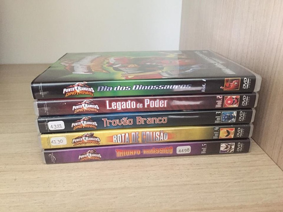Dvds Power Rangers Dino Trovão - Originais