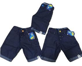 10 Bermuda Short Infantis Infantil Meninos Ate 5 Anos Verão