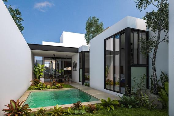 Casa En Venta, Merida, Cholul ¡de Un Piso! Mod. Begonia