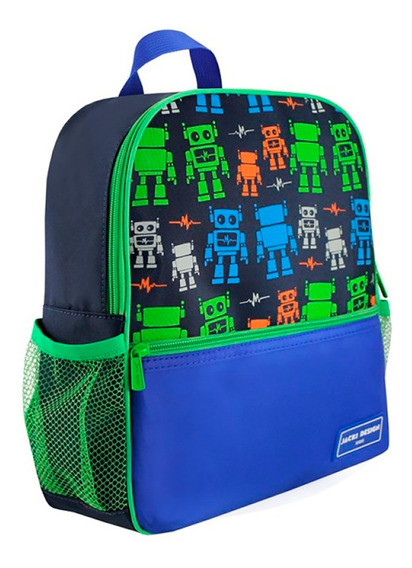 Mochila Escolar Infantil Robô Sapeka Jack Design Ahl17517