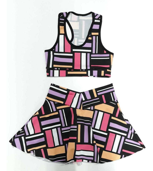 Pack De 10 Conj Short-falda-top Talles Y Estampados A Elegir