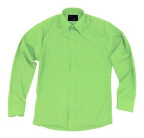 Camisa Infantil Juvenil Salidas Escolares Verde Limon 2 A 16