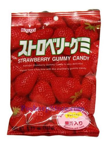 Imagen 1 de 4 de Gomitas De Sabor Fresa Kasugai Strarberry Japonesas