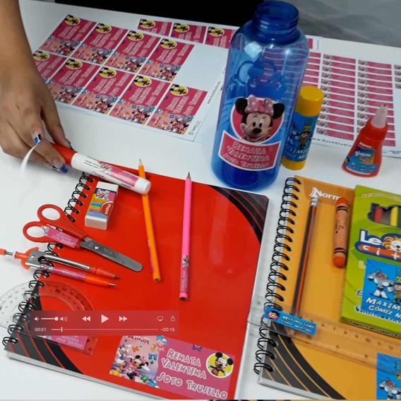 97 Etiquetas Escolares Personalizadas Niñas