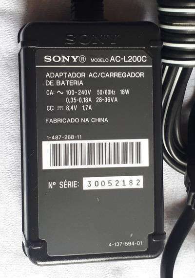 Fonte Carregador Filmadora Sony Ac-200c Original Fotos Reais
