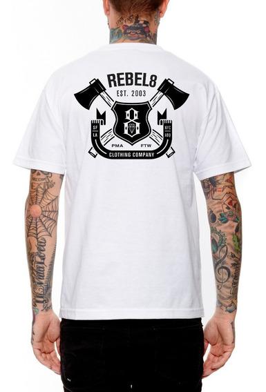 Playera Rebel8 Hatchet White