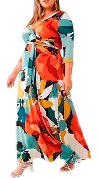 Vestido By Forever 21 Floral Maxi Dress Plus Size 2x
