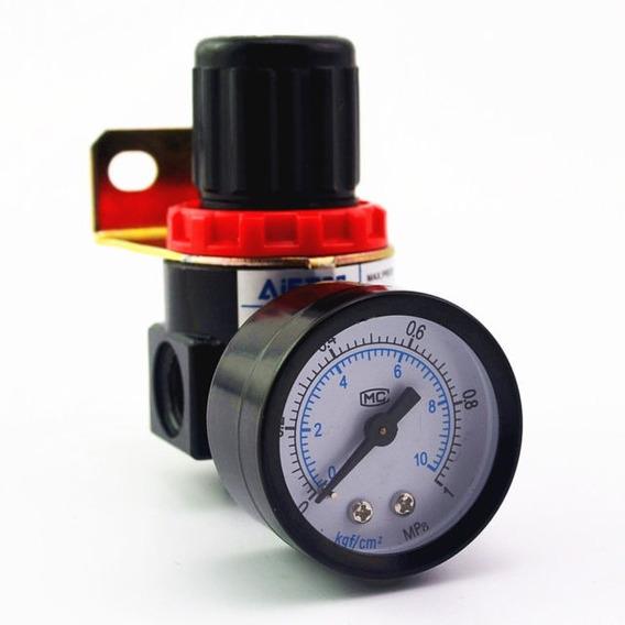 Regulador Pressão Compressor Manômetro 1/4 Ar2000