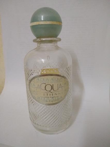 Botella Vidrio Trabajado 16x6 Agua De Colonia Vacia Hermosa