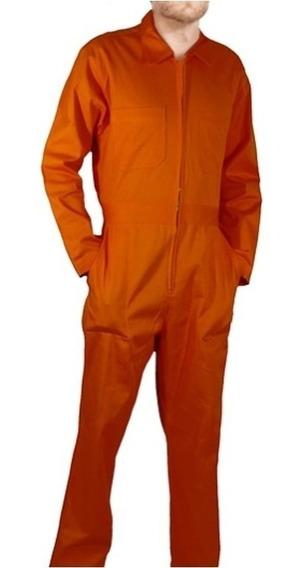 Overol Industrial Gabardina Naranja Tipo Pemex 100% Algodón