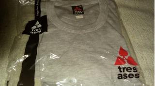 Camisetas Grises M/larga 3 Ases X Dormir X Andar T/esp 48