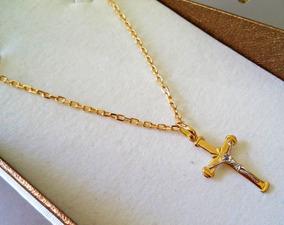 Corrente Cartier Maciça Com Crucifixo